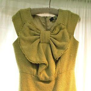 Eva Franco Tweed Bow Dress